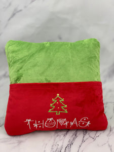 Jade with Red Pocket Reading Pillow