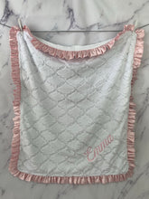 Load image into Gallery viewer, White Lattice with Soft Pink Satin Ruffle Gift Set