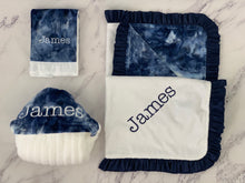 Load image into Gallery viewer, Navy Tie Dye with Navy Ruffle Gift Set
