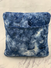 Load image into Gallery viewer, Navy Tie Dye Reading Pillow