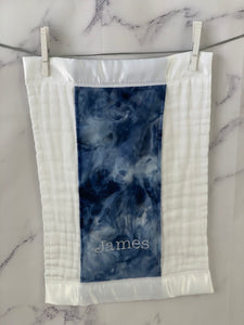 Navy Tie Dye with Navy Ruffle Gift Set