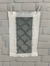 Load image into Gallery viewer, Gray Lattice with flat white Ruffle Gift Set 2