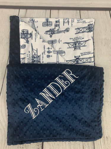 Navy Aviation Blanket No Ruffle