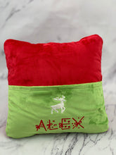 Load image into Gallery viewer, Red with Jade Pocket Reading Pillow