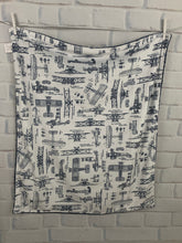 Load image into Gallery viewer, Navy Aviation Blanket No Ruffle