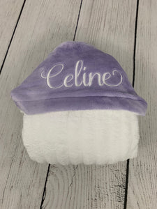 Flat Lavender Hooded Towel