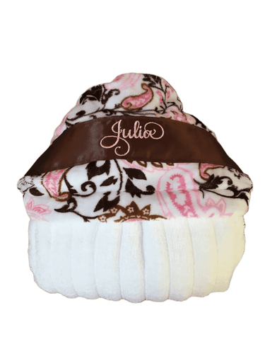 Pink/Brown Paisley Hooded Towel