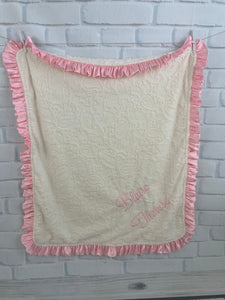 Ivory Embossed Paisley with Pink Ruffle Gift Set