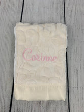 Load image into Gallery viewer, Ivory Vine & Ivory Satin Burp Cloth