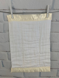 Ivory Vine & Ivory Satin Burp Cloth