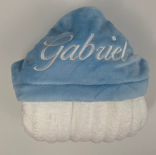 Flat Baby Blue Hooded Towel