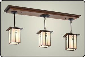 Craftsman Style Kitchen Island Pendant Light
