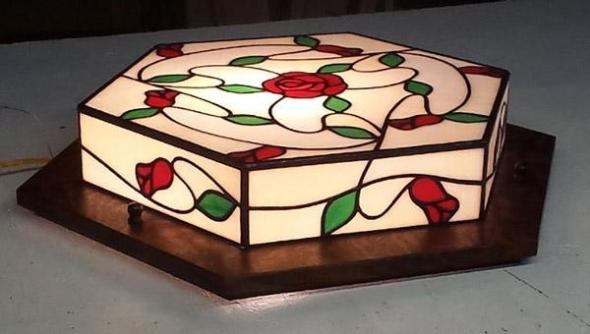 Custom Rose and Vine Craftsman Light