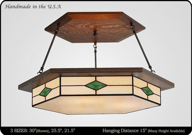 Craftsman Style Chandeliers Handcrafted Light Fixture – Mission Style Chandelier Lighting
