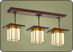 Large Craftsman Pendant Light #509