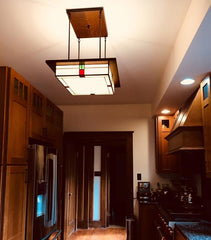 Mission Light in Kitchen