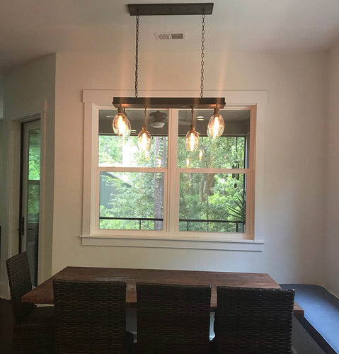 Mission Kitchen Island Pendant #950 - Custom Version