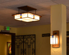 Large Hotel with Mission Light and Wall Sconce