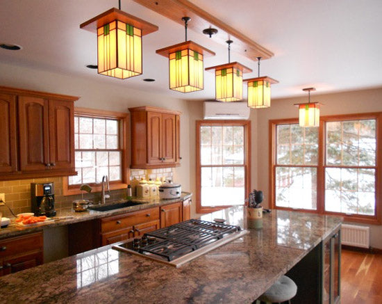 Mission Style Kitchen Island Lighting