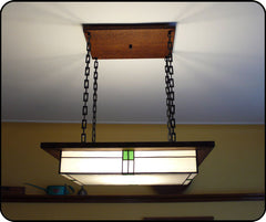 Mission style Light in Dining room