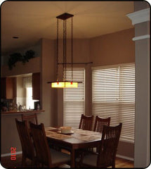 Mission Style Lighting in a Classic Dining Room