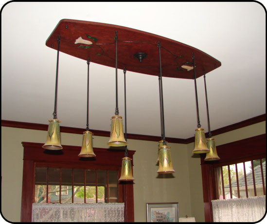 Vintage pendant in dining room for Dining room pendant lights