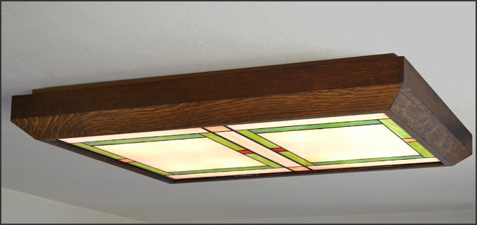 Arts & Crafts Style Ceiling Light