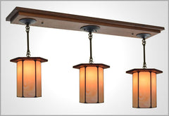 Large Three Pendant Light #524
