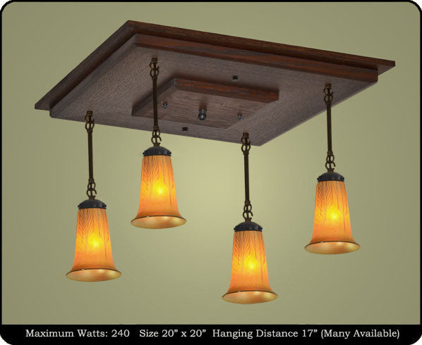 Arts and Crafts Pendant Chandeliers