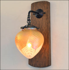 Arts and Crafts Wall Sconce with Heart Shade