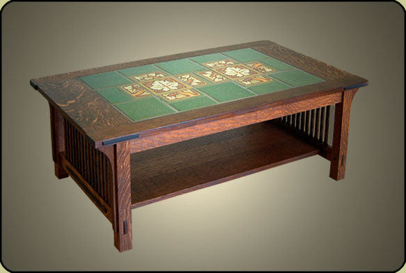Arts & Crafts Tile Top Coffee Table