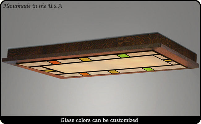 craftsman style flush ceiling light 510