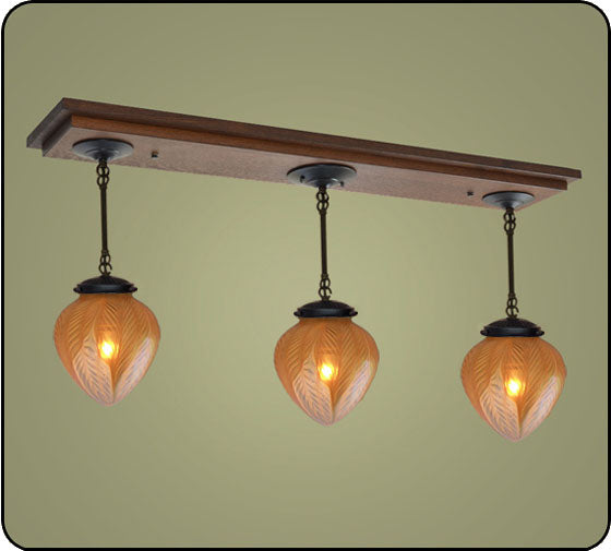 Craftsman Pendant Light with Hearts #170