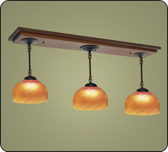 Craftsman Pendant Light With Domes #170