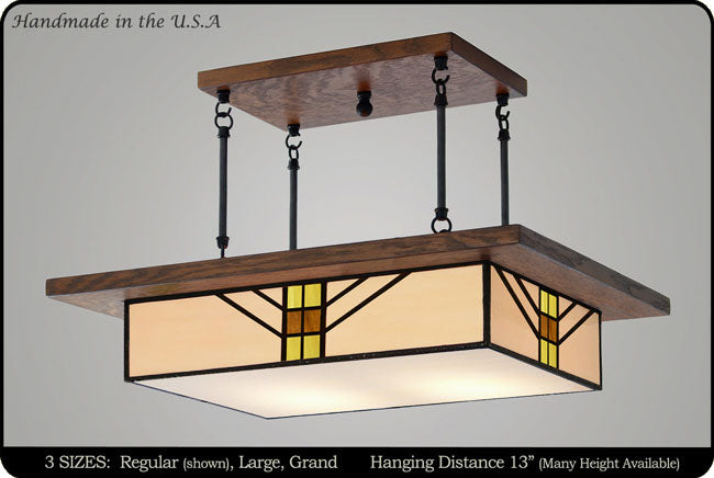 Foyer Lighting Mission Style : Bungalow style mission chandelier hanging light