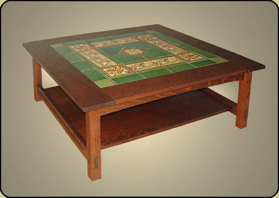 Mission Tile Top Coffee Table