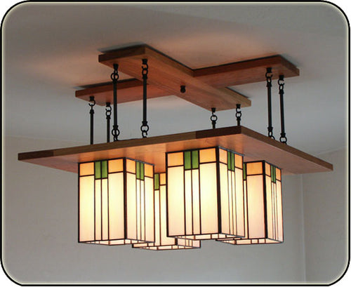 Prairie Chandelier With 8 Rods #857-8