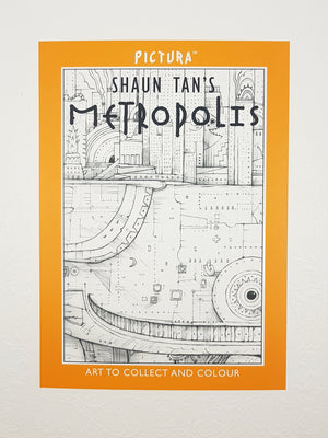 Shaun Tan's Metropolis: Art to Collect and Colour