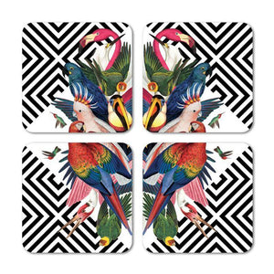 Geometric Aviary Coasters