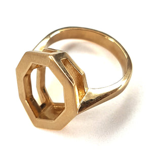 Geometric Gold Ring