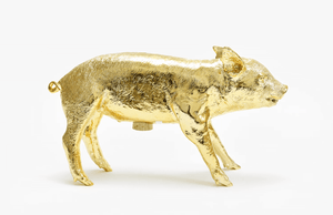 Bank in the Form of a Pig - Gold
