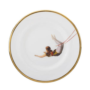 Trapeze Girl Bone China Plate
