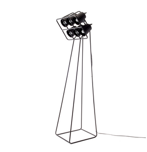Black Floor Multi Lamp