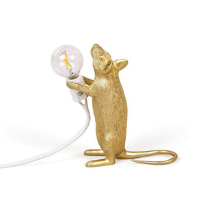 Gold Mouse Lamp - Standing