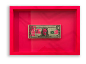 Rich Enough To Be Batman Dollar Note in neon Pink Frame