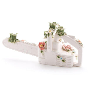 Flower Attitude Chainsaw Candle Holder