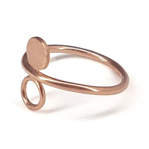 Solis Eclipse ring - Rose Gold