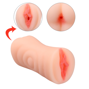 Male Masturbator Cup Vagina Anal Built-in Cock Ring(6.69 * 3.34 * 3.15 inch)