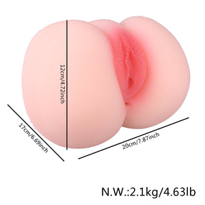 Male Masturbator Pussy Anal Sex Toy(6.69 * 7.87 * 4.72 inch)