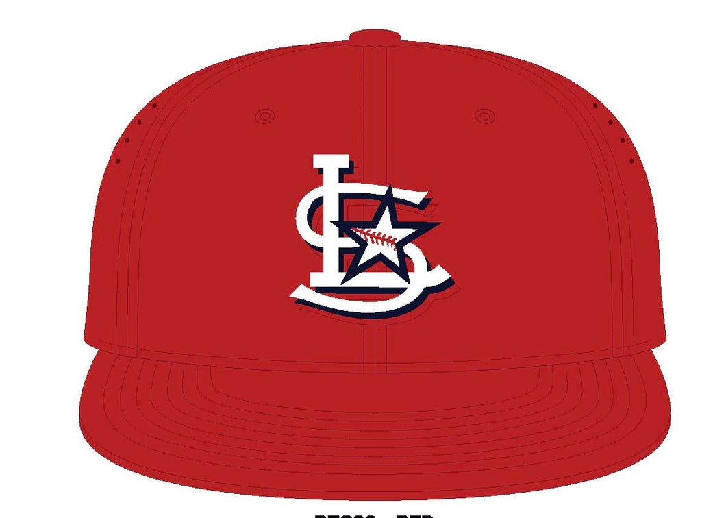Official Game Hat for Lonestar Baseball Club Red